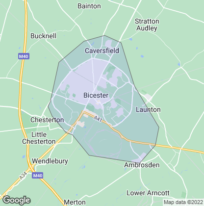 Map of property in Bicester