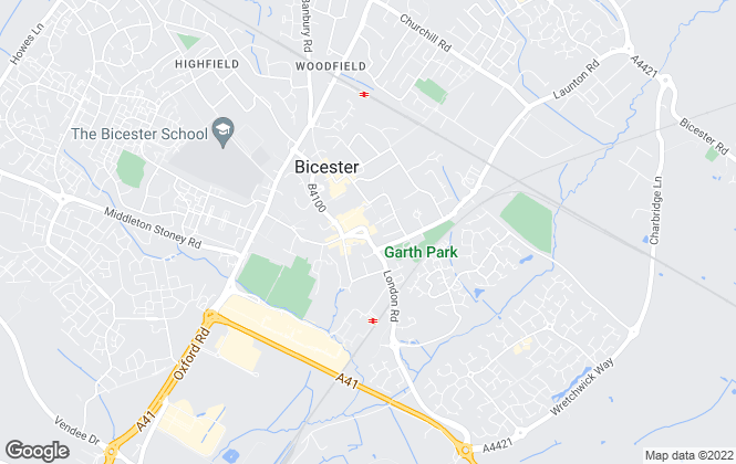 Map for Connells, Bicester
