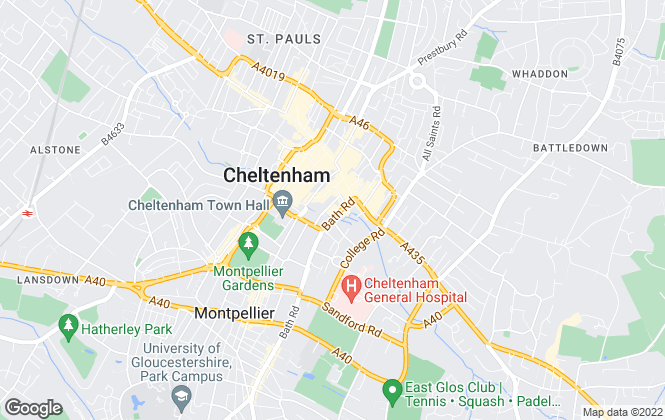 Map for Taylors Estate Agents, Cheltenham