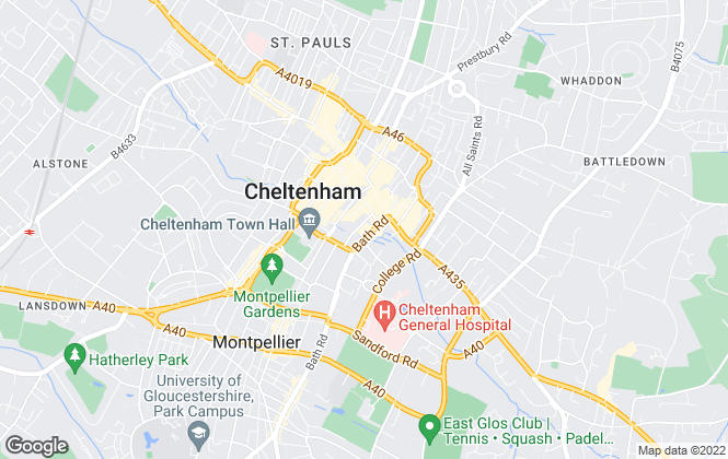 Map for Taylors Lettings, Cheltenham