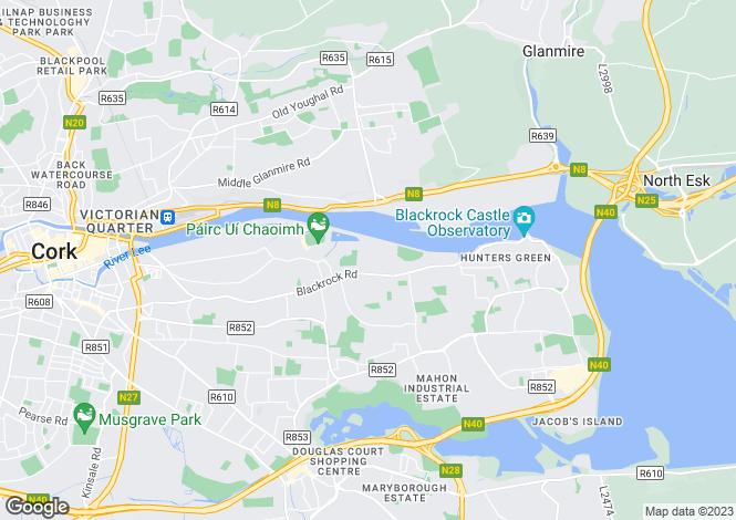 Map for 2 Lisnalee Drive, Barrington's Avenue, Ballintemple, Cork, T12 V3K8