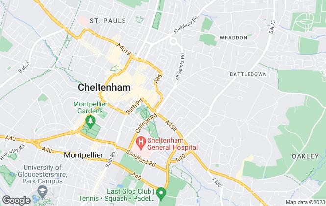 Map for RA Flatt Residential Letting Ltd , Cheltenham