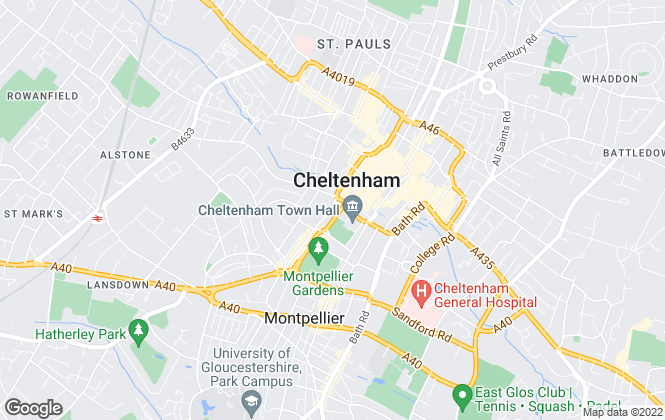 Map for Hamptons International Sales, Cheltenham