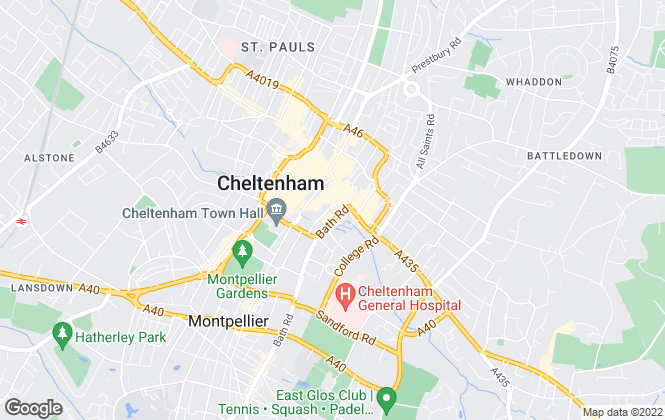Map for Kensington Lettings, Cheltenham
