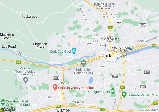 Map for Sundays Well, Cork City