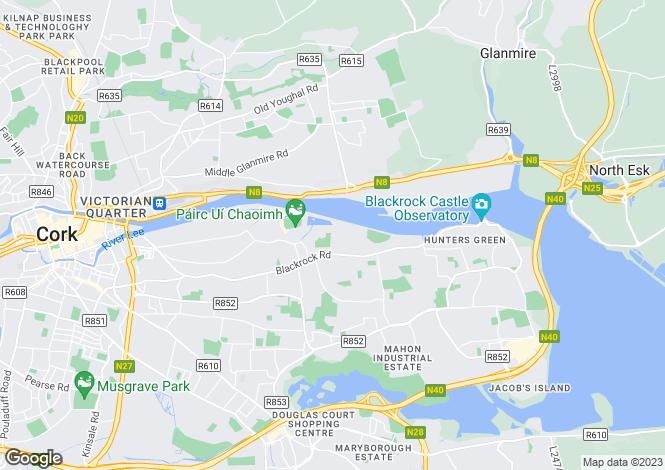 Map for Barringtons Avenue, Blackrock, Co Cork
