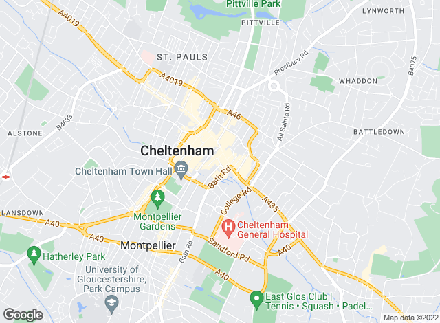 Map for C J Hole, Cheltenham