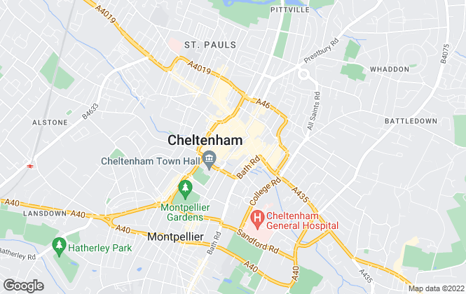 Map for Martin & Co, Cheltenham - Lettings & Sales