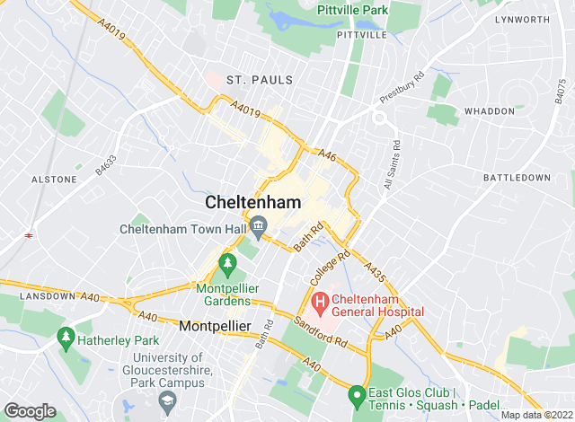 Map for Martin & Co, Cheltenham - Lettings