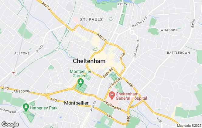 Map for Martin & Co, Cheltenham - Lettings & Sales
