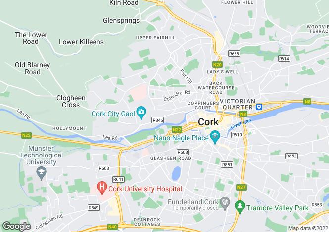 Map for Sundays Well, Cork