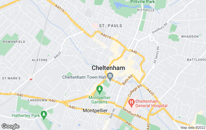 Map for SCHYDE INVESTMENTS LIMITED, Cheltenham