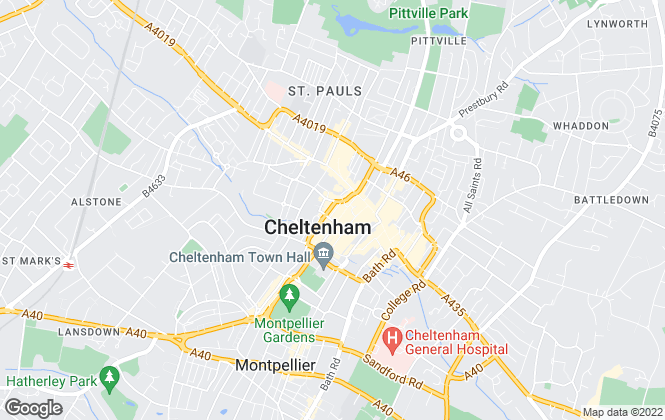 Map for Move Sales & Lettings, Cheltenham