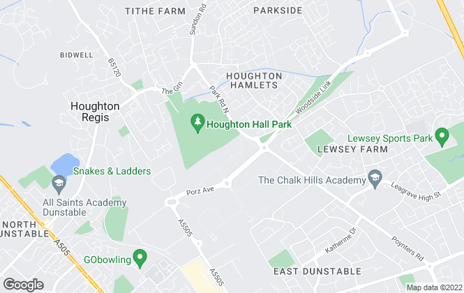 Map for Lea Valley Homes, Houghton Regis