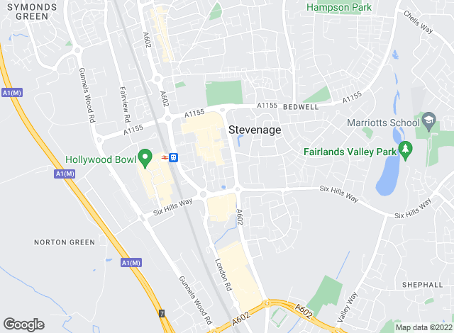 Map for Connells, Stevenage