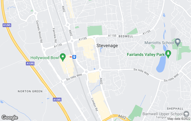 Map for Your Move , Stevenage