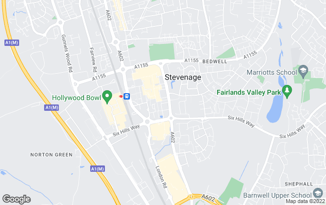 Map for Connells Lettings, Stevenage Lettings