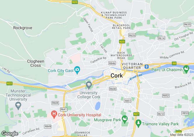 Map for Sundays Well Avenue, Sundays Well, Cork City, Co Cork