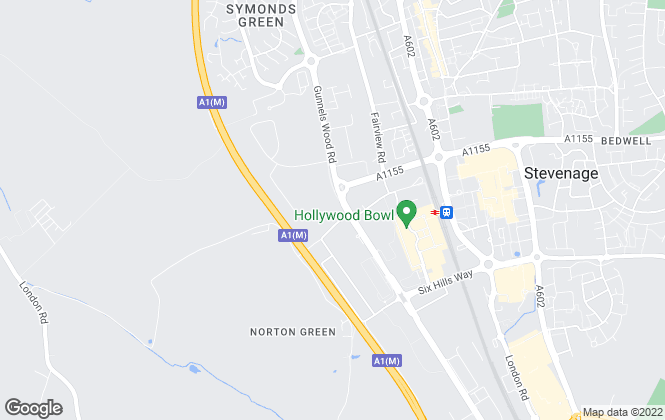 Map for Agent Hybrid, Stevenage - Sales