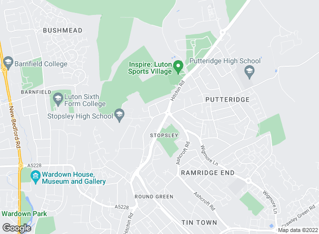 Map for Taylors Estate Agents, Stopsley