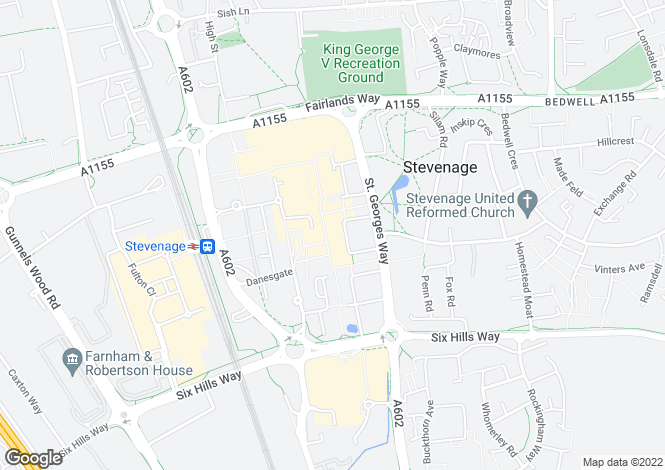 Map for Queensway,