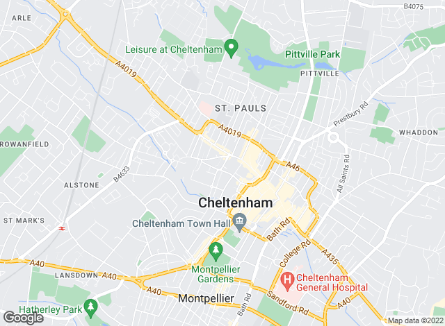 Map for Hamlets/West End Lettings, Cheltenham - Lettings