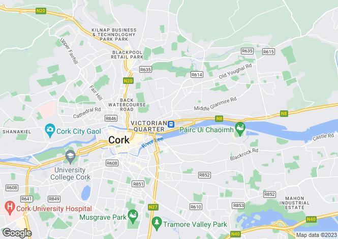 Map for Summerville, Summerhill North, St. Lukes, Cork, T23 F2H2