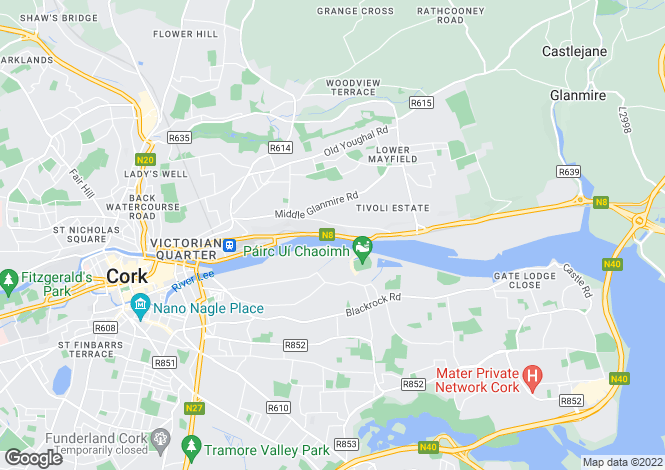 Map for Carrig House, Lower Glanmire Road, Tivoli, Cork City