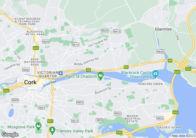 Map for Lovers Walk, Tivoli, Cork