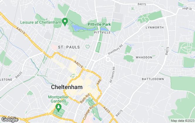 Map for Northwood, Cheltenham