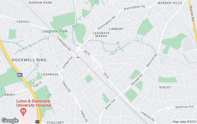 Map for Belvoir, Luton