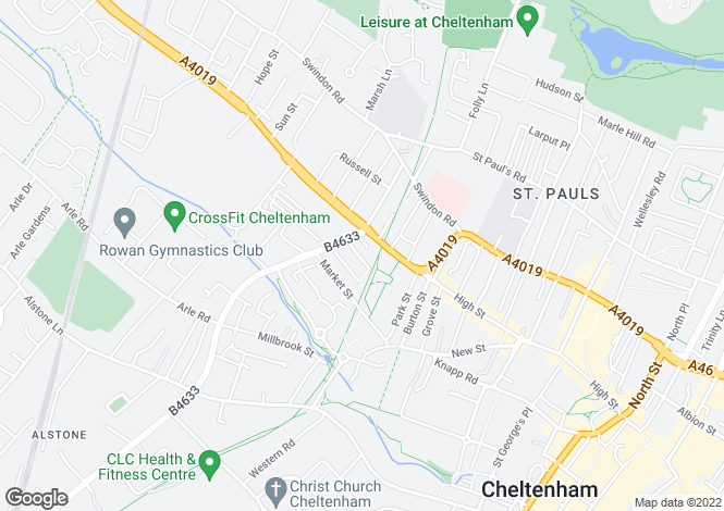 Map for Stoneville Street, Cheltenham