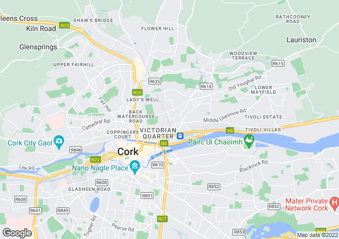 Map for Sunmount Cottage, Military Road, St Lukes, Cork, T23 Y66W