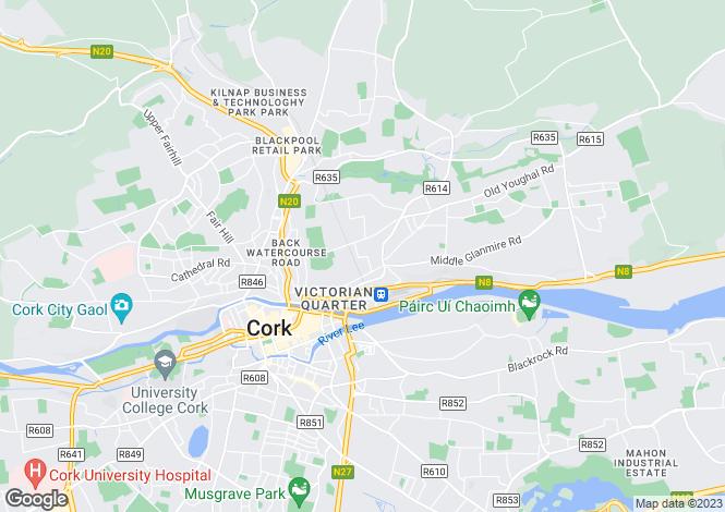 Map for 6 Roseneath Villas, Military Road, Cork