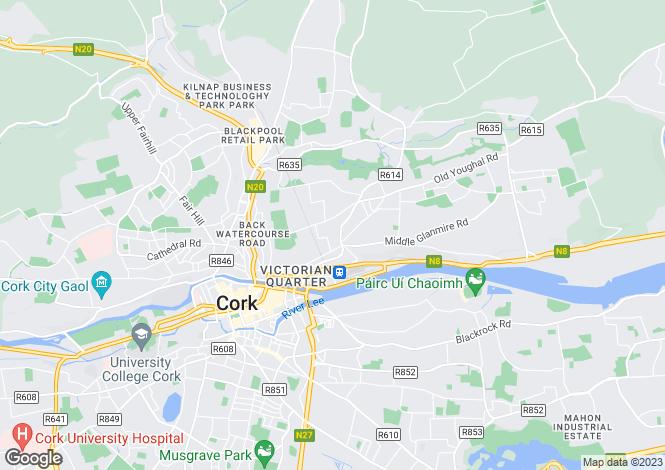 Map for Kimberley Villas, Millitary Hill, St Lukes, Cork City