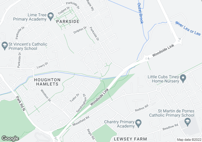 Map for CONWAY CLOSE, HOUGHTON REGIS