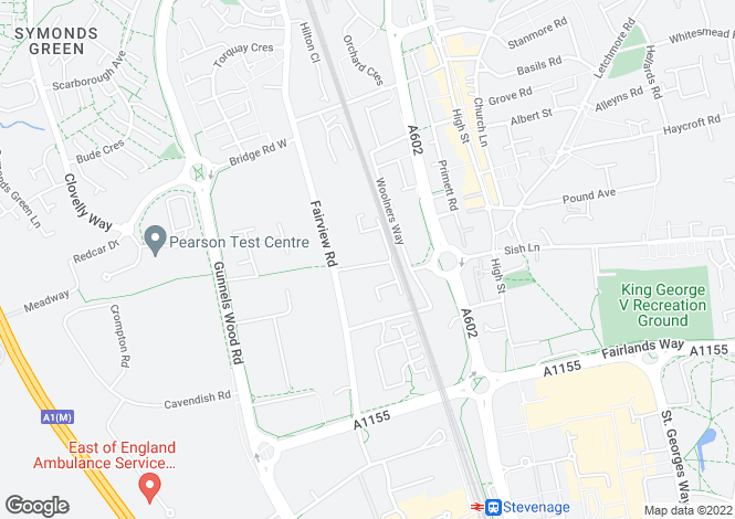 Map for Brick Kiln Road, Stevenage, Hertfordshire, SG1