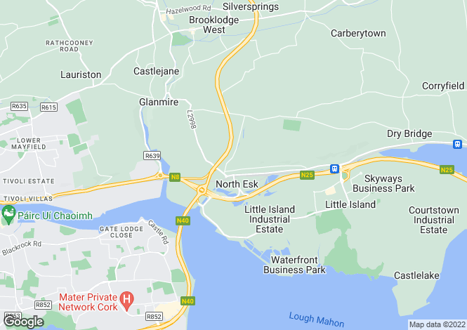 Map for Glanmire, Co Cork