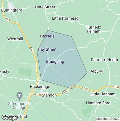 Map of property in Braughing