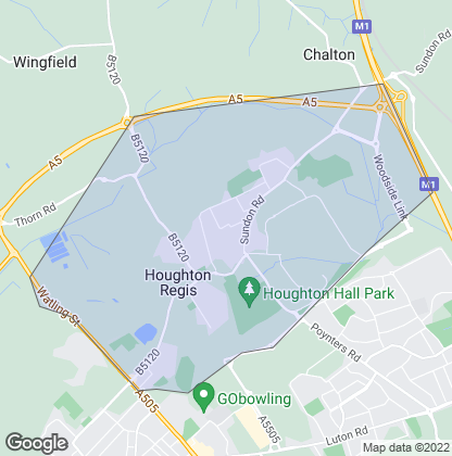 Map of property in Houghton Regis