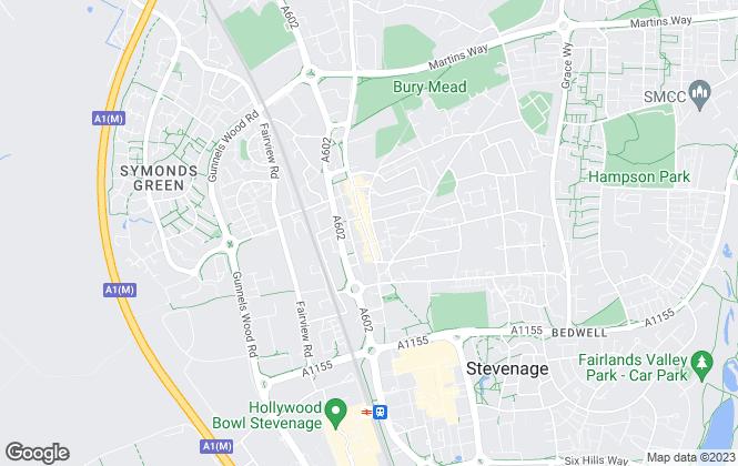 Map for MarkSimon Estates, Stevenage - Lettings