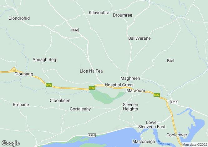 Map for Macroom, Cork