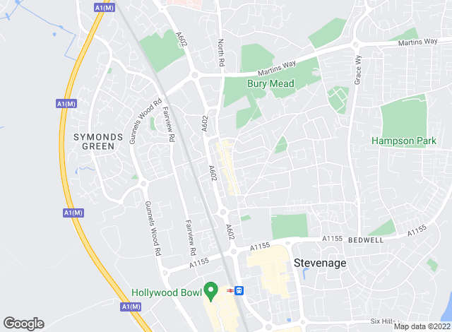 Map for Country Properties, Stevenage (Sales and Lettings)