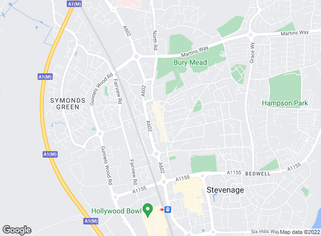 Map for TLC Estates, Stevenage