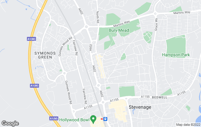 Map for Own Homes, Stevenage