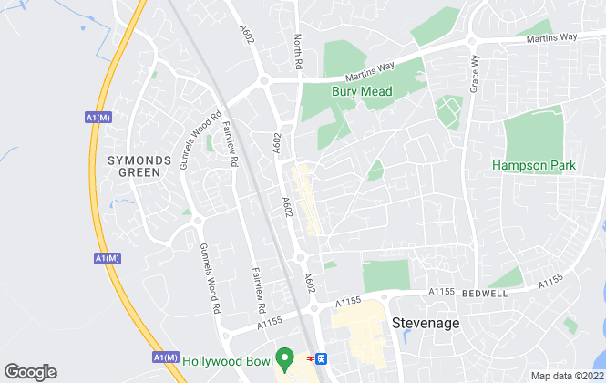 Map for Own Homes, Stevenage