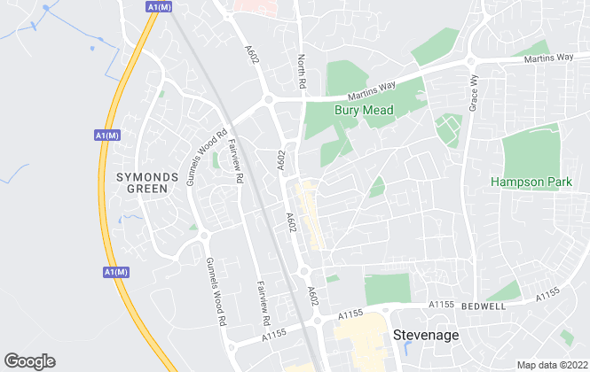 Map for Willow Homes, Stevenage
