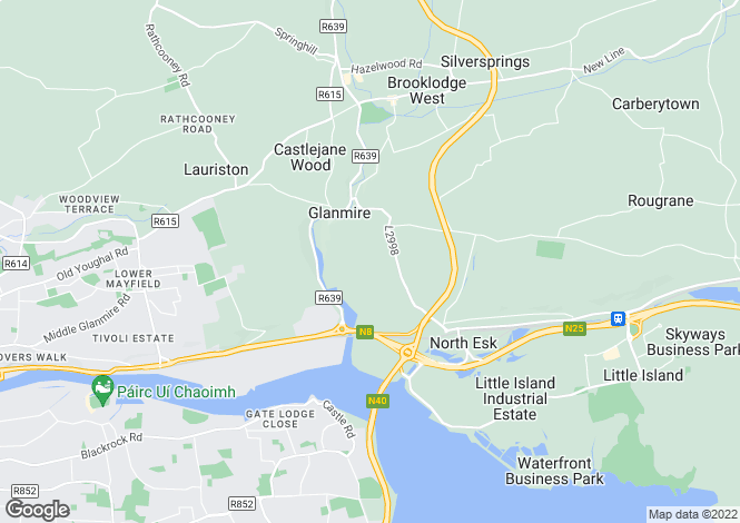 Map for 7 The Courtyard, Woodville, Glanmire, Co Cork, T45 DF20