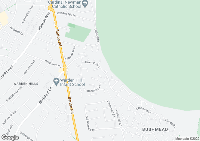 Map for Cromer Way, Luton, Bedfordshire, LU2 7EE