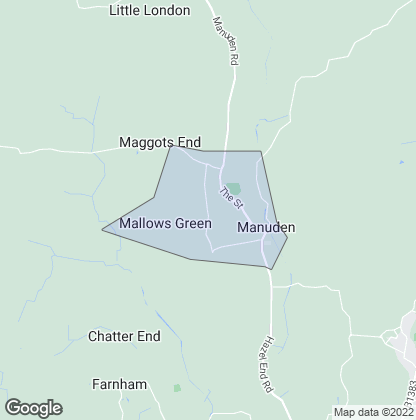 Map of property in Manuden